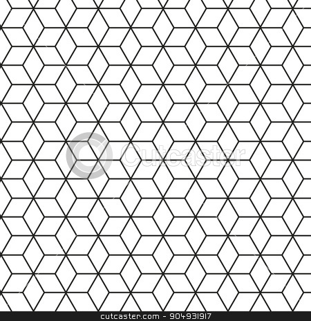 Vector illustration of a seamless pattern stock vector clipart, Vector illustration of a seamless pattern of rhombuses. by Amelisk