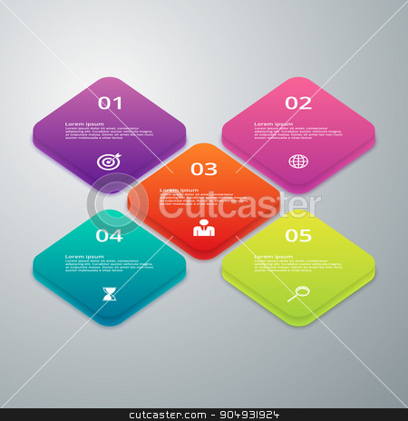 Vector illustration infographics of squares stock vector clipart, Vector illustration infographics of squares. Stock vector by Amelisk