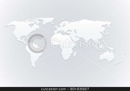 Stock Vector 3d map of the world stock vector clipart, Stock Vector 3d map of the world. by Amelisk