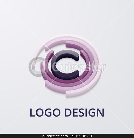 Stock Vector 3d logo letter c stock vector clipart, Stock Vector 3d logo letter c. Stock vector by Amelisk