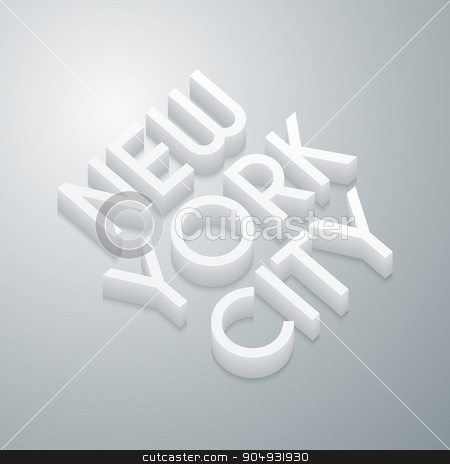 Vector illustration of a plastic stock vector clipart, Vector illustration of a plastic inscription New York City. by Amelisk