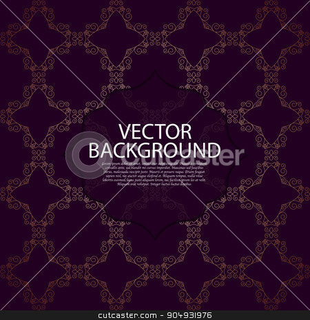 Vector illustration of a modern invitation. stock vector clipart, Vector illustration of a modern linear pattern invitation. by Amelisk