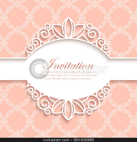 Vector illustration of a modern invitation. stock vector clipart, Vector illustration of a modern linear pattern invitation. by Amelisk