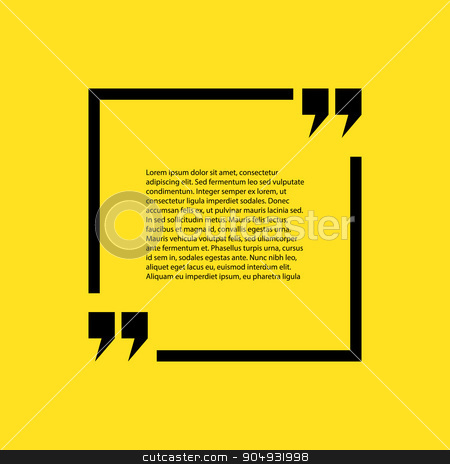 Stock quote the text on a yellow background stock vector clipart, Stock quote the text on a yellow background. by Amelisk
