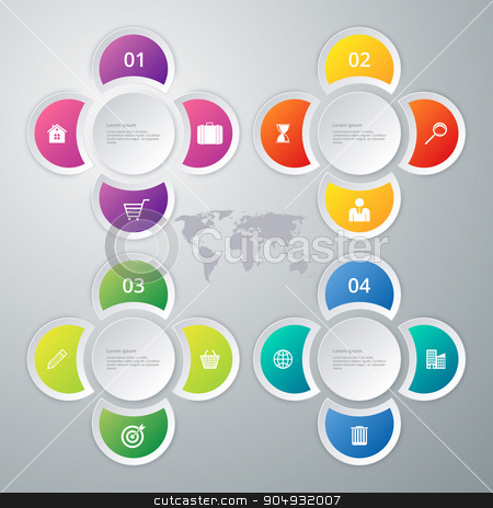 Vector illustration infographics 4 options stock vector clipart, Vector illustration infographics 4 options. Stock vector by Amelisk