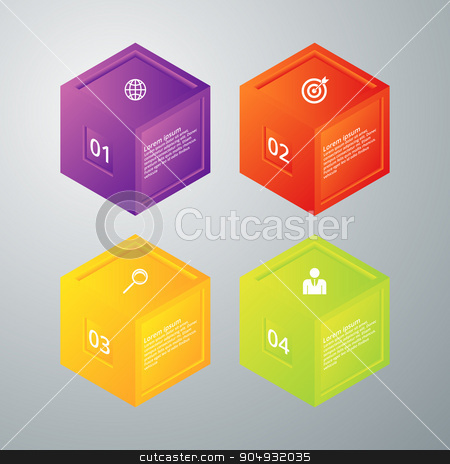 Vector illustration infographics four options stock vector clipart, Vector illustration infographics 4 options. Stock vector by Amelisk