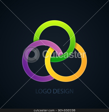 Vector illustration of abstract business logo stock vector clipart, Vector illustration of abstract business logo of the circles. by Amelisk