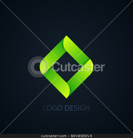 Vector illustration of abstract business logo stock vector clipart, Vector illustration of abstract business logo squares. by Amelisk