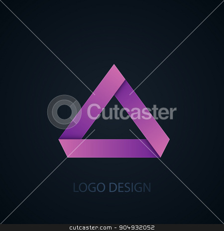Vector illustration of abstract business logo stock vector clipart, Vector illustration of abstract business logo of triangles. by Amelisk