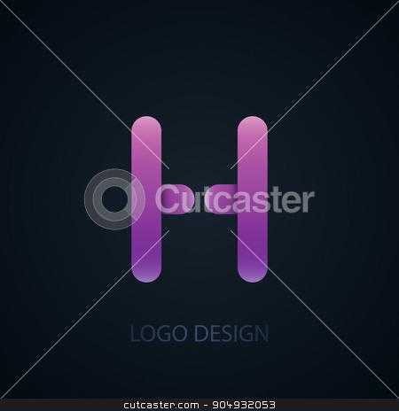 Vector illustration of abstract business logo stock vector clipart, Vector illustration of abstract business logo letter h. by Amelisk