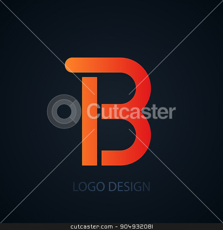 Vector illustration of abstract business logo stock vector clipart, Vector illustration of abstract business logo letter b. by Amelisk