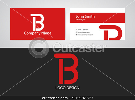 Vector illustration of logo and business card stock vector clipart, Vector illustration of logo and business card. Stock vector by Amelisk
