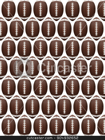 Vector American Football Pattern stock vector clipart, An American Football flyer design perfect for tailgate parties, football invites, etc. Vector EPS 10. EPS file contains transparencies. by Jason Enterline