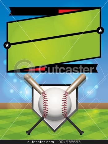 Vector Baseball League Illustration stock vector clipart, A vector baseball league registration illustration. Vector eps 10. EPS file is layered. by Jason Enterline