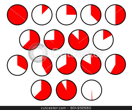 Pie Chart Sections stock vector clipart, A collection of several different pie chart sections over a white background by Kotto