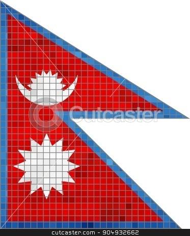 Nepal Flag stock vector clipart, Nepal Flag - Illustration,  Abstract Mosaic Nepal Flag,  Grunge mosaic flag of Nepal,  Abstract grunge mosaic vector by Jugoslav