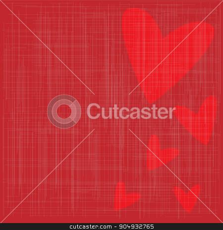 Grunge Valentine Background stock vector clipart, Valentine card with a grunge background with hearts by Kotto