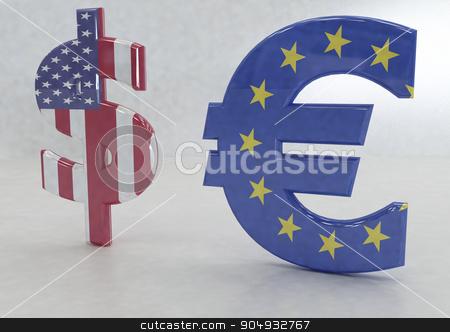 International economy currency units stock photo, International economy currency units: euro and dollar by Anatolii Vasilev