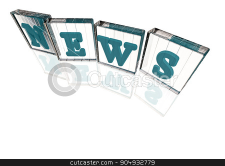 The News word made of blocks stock photo, The News word made of blocks with letters by Anatolii Vasilev