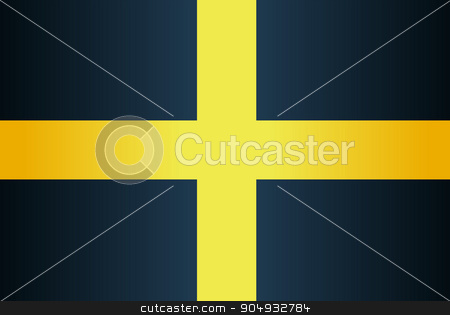 Flag of Saint David Of Wales stock vector clipart, The flag of Saint David of Wales a black background with a yellow cross by Kotto