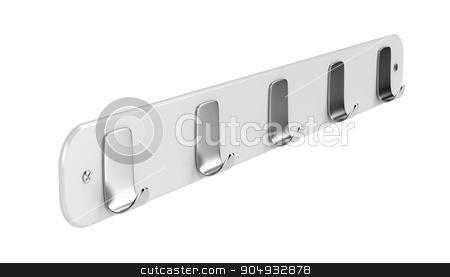 Wall hanger stock photo, Wall hanger isolated on white background by Mile Atanasov
