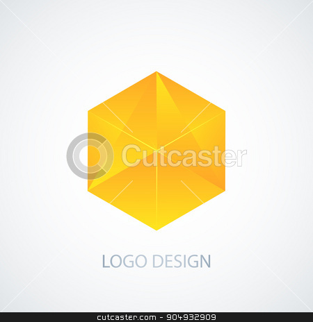 Vector illustration of cube logo stock vector clipart, Vector illustration of cube logo. Stock vector by Amelisk