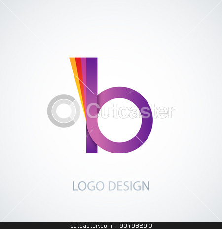 Vector illustration of colorful logo letter b stock vector clipart, Vector illustration of colorful logo letter b. Stock vector by Amelisk