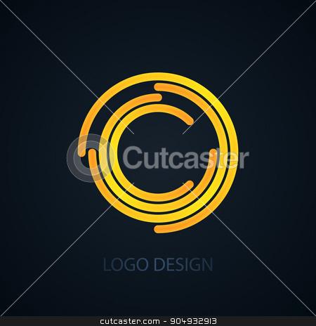 Vector illustration of logo letter c stock vector clipart, Vector illustration of logo letter c. Stock vector by Amelisk