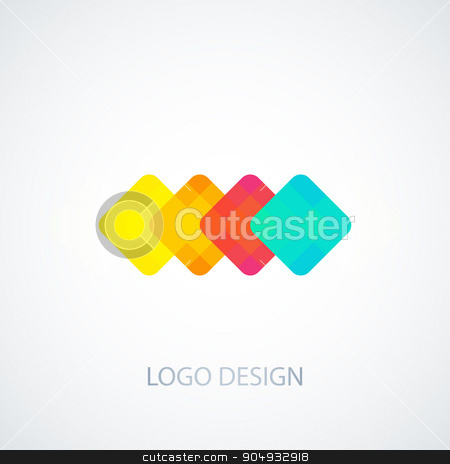 Vector illustration of colored squares logo stock vector clipart, Vector illustration of colored squares logo. Stock vector by Amelisk