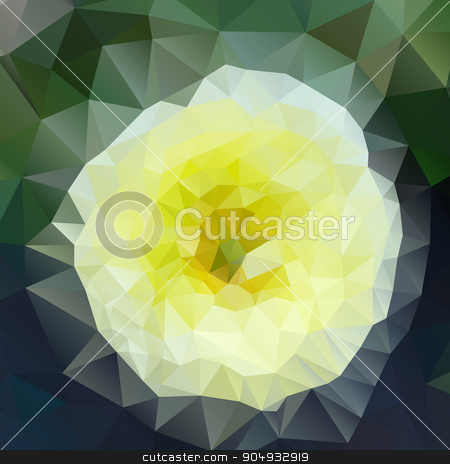 Vector illustration of an abstract mosaic stock vector clipart, Vector illustration of an abstract mosaic of triangles. by Amelisk