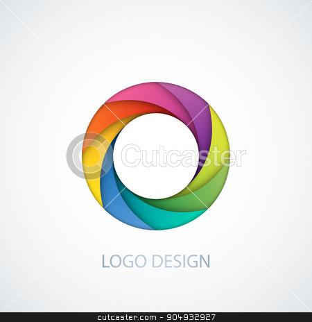 Vector illustration of logo letter o stock vector clipart, Vector illustration of logo letter o. Stock vector by Amelisk
