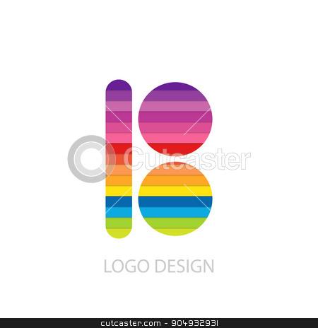 Vector illustration of colorful logo letter stock vector clipart, Vector illustration of colorful logo letter b. by Amelisk