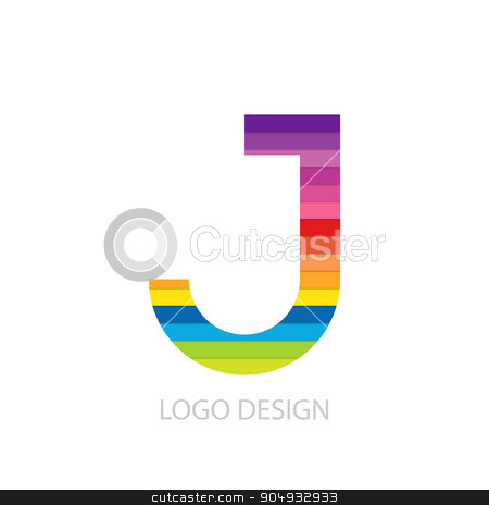 Vector illustration of colorful logo letter stock vector clipart, Vector illustration of colorful logo letter j. by Amelisk