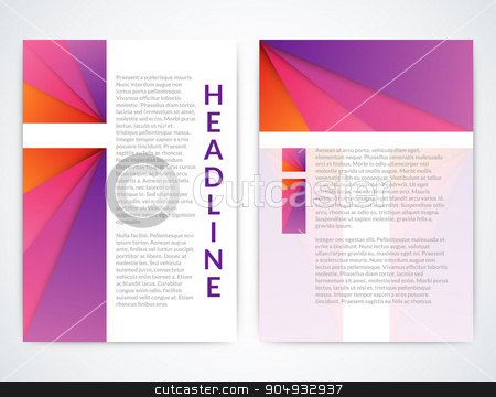 Vector illustration of a colorful brochure stock vector clipart, Vector illustration of a colorful brochure. Stock vector by Amelisk