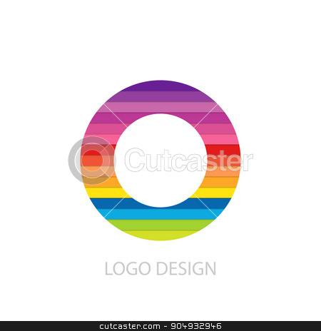 Vector illustration of colorful logo letter stock vector clipart, Vector illustration of colorful logo letter o. by Amelisk