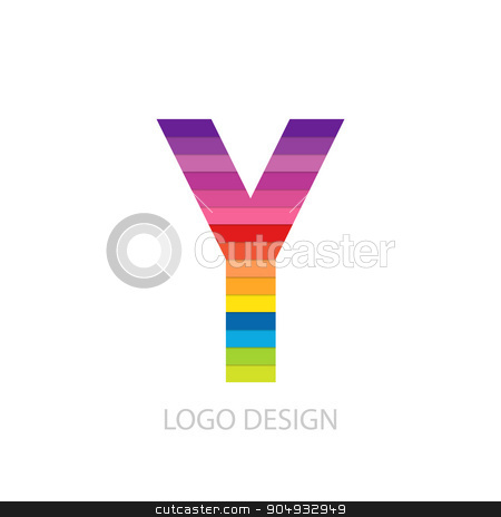 Vector illustration of colorful logo letter stock vector clipart, Vector illustration of colorful logo letter y. by Amelisk