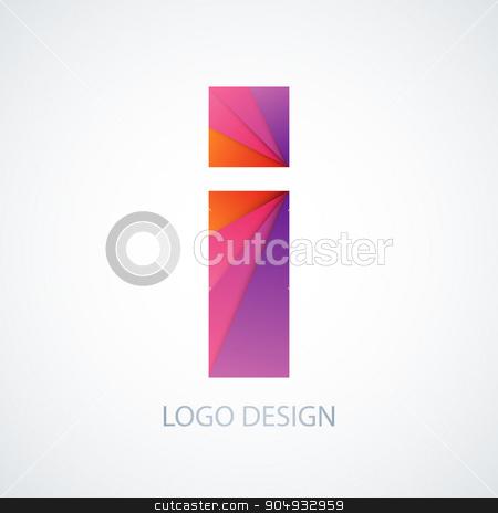 Vector illustration of colorful logo letter i stock vector clipart, Vector illustration of colorful logo letter i. Stock vector by Amelisk