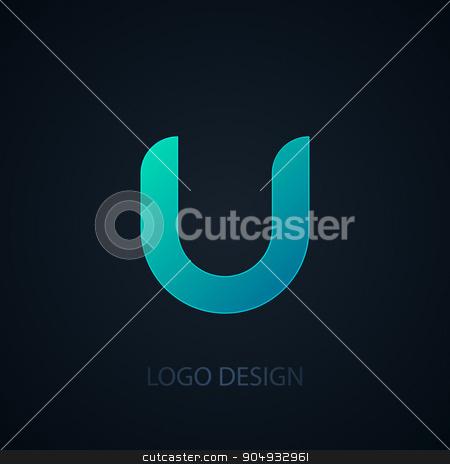 Vector illustration of logo letter u stock vector clipart, Vector illustration of logo letter u. Stock vector by Amelisk