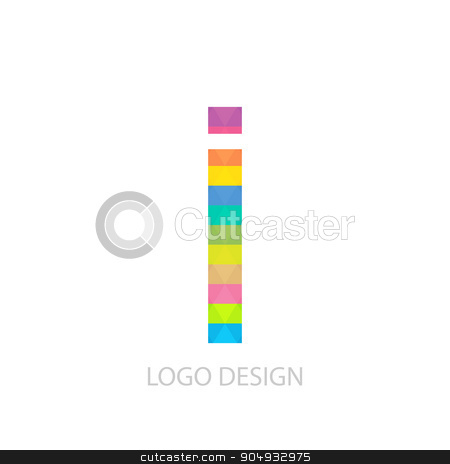 Vector illustration of colorful logo letter stock vector clipart, Vector illustration of colorful logo letter i. by Amelisk