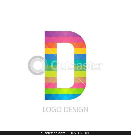 Vector illustration of colorful logo letter stock vector clipart, Vector illustration of colorful logo letter d. by Amelisk