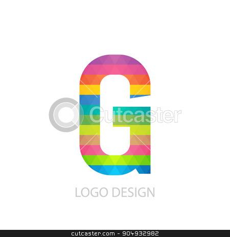 Vector illustration of colorful logo letter stock vector clipart, Vector illustration of colorful logo letter g. by Amelisk