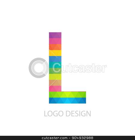 Vector illustration of colorful logo letter stock vector clipart, Vector illustration of colorful logo letter l. by Amelisk