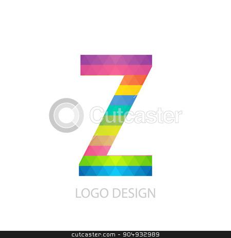 Vector illustration of colorful logo letter stock vector clipart, Vector illustration of colorful logo letter z. by Amelisk