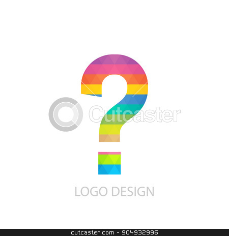 Vector illustration of colorful logo letter stock vector clipart, Vector illustration of a question mark logo. by Amelisk