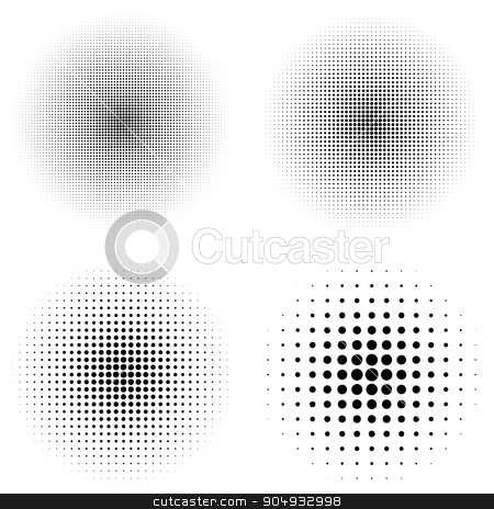 Vector illustration of a halftone stock vector clipart, Vector illustration of a halftone. Stock vector by Amelisk