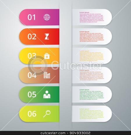 Vector illustration infographics six options stock vector clipart, Vector illustration infographics six options. Stock vector by Amelisk