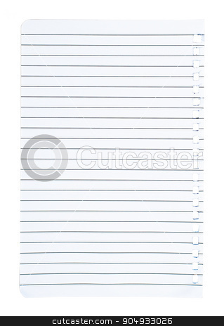 Piece of paper stock photo, Piece of paper on isolated white background by cherezoff