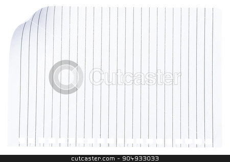 Piece of paper on white stock photo, Piece of paper on isolated white background by cherezoff