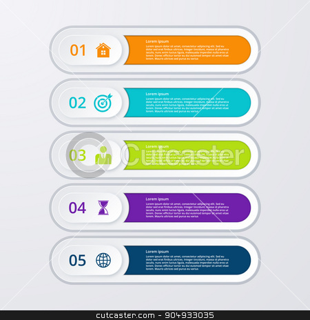 Vector illustration infographic five options stock vector clipart, Vector illustration infographic five options. Stock vector by Amelisk