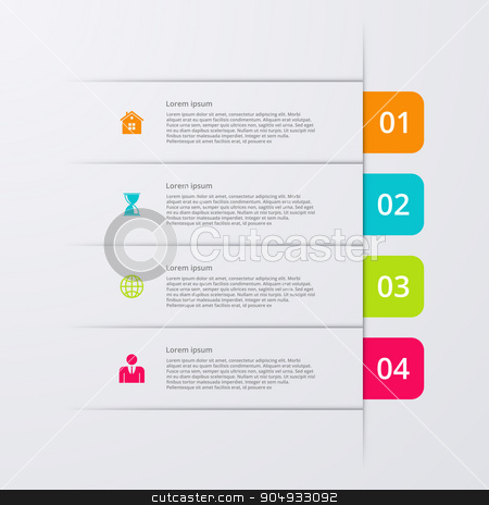 Vector illustration infographics four options stock vector clipart, Vector illustration infographics four options. Stock vector by Amelisk